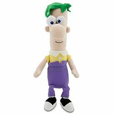 Disney Ferb Plush - Phineas and Ferb - Mini Bean Bag - 10''