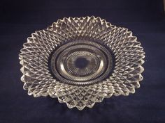 Vintage Pressed Glass Diamond Point Candy Dish on Etsy, $7.99