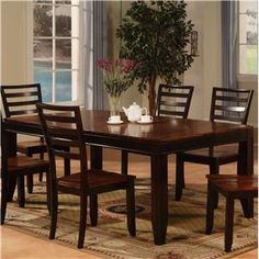Adaptable Dining Rectangle Leg Table by Holland House at Godby Home Furnishings