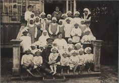 1919. Abandoned children at an ICRC home in Kowel, Poland.
