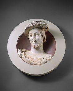 "Girolamo della Robbia (Italian, 1488–1566), or Luca della Robbia (""Young Luca"") (Italian, 1475–ca. 1548). François I (1494–1547), King of France, 1529. The Metropolitan Museum of Art, New York. Gift of George Blumenthal, 1941 (41.100.245) #mustache #movember"