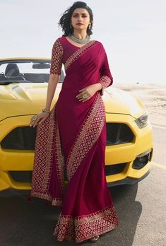 elegant saree \ elegant saree elegant saree party wear elegant saree classy elegant saree color combinations elegant saree look elegant saree with price elegant saree for farewell elegant saree party wear indian weddings Silk Saree Blouse Designs, Saree Blouse Patterns, Fancy Blouse Designs, Indian Bridal Outfits, Indian Designer Outfits, Indian Wedding Sari, Wedding Sarees, Sari Bluse, Party Kleidung