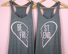 Mejor regalo de amigo. Mejor amigo de camisas. por TrexAndUnicorn