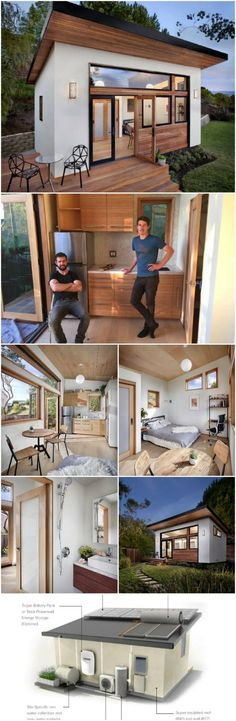 Shed Plans - These Innovative Tiny Homes Take Sustainable Design to the Next Level - Now You Can Build ANY Shed In A Weekend Even If You've Zero Woodworking Experience! Nachhaltiges Design, Design Homes, Roof Design, Casa Loft, Casas Containers, Tiny House Movement, Tiny House Plans, Tiny Cabin Plans, Guest House Plans
