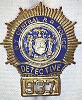 New York Central Railroad Police Detective