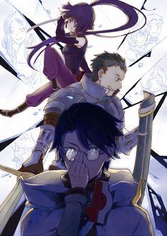 Shiroe, Naotsugu, & Akatsuki - Log Horizon