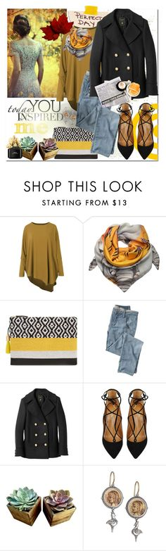 """Happy autumn"" by hancicaf on Polyvore featuring Joanna Allsop, âme moi, Wrap, Balmain, Aquazzura, Konstantino, Marc Jacobs, contest, yellow and black"