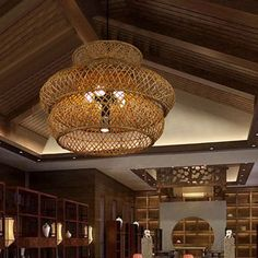 6 Heads Wide Flare Ceiling Chandelier Asian Bamboo Hanging Pendant Light in Brown - 220V-240V Brown Wall Mounted Light, Ceiling Lamps Living Room, Ceiling Chandelier, Brown Chandeliers, Asian Chandeliers, Bedside Reading Light, Chandelier, Pendant Light Fixtures, Hanging Pendant Lights
