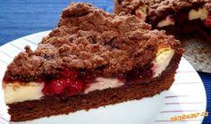 Tmavý třešňový koláč Sweet And Salty, Tiramisu, Goodies, Baking, Ethnic Recipes, Food, Cakes, Pies, Sweet Like Candy
