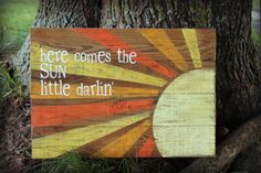 Here Comes the Sun Pallet Art by RusticHeartGoods on Etsy, $60.00
