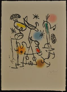 Joan Miro print after conservation.