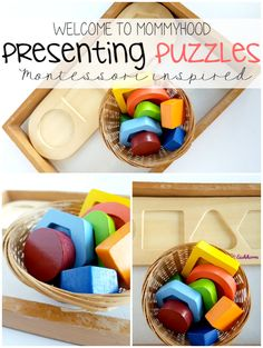 Presenting Montessori Activities: presenting puzzles by Welcome to Mommyhood #montessori, #montessorihome, #montessoriactivities