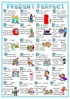 Present Perfect practise worksheet - Free ESL printable worksheets made by teachers