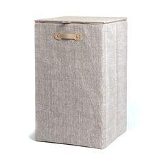 Wäschekorb mit Deckel Papier natur ca L:35 x B:35 x H:58 cm