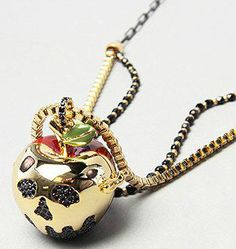 snow white's apple pendant