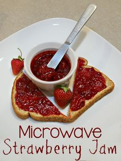 Super Simple Microwave Strawberry Jam with Lemon Juice, Sugar, and Salt (No Pectin) to Cook with Kids from Still Playing School