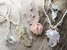Gemstone crochet crystal necklace jewelry. For more follow www.pinterest.com/ninayay and stay positively #pinspired #pinspire @ninayay
