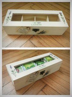 Decoupaged tea box