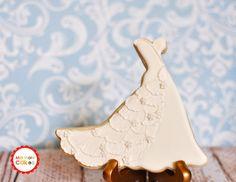 Wedding Dress Cookies 1 Dozen Cookie Favors Icing by MarinoldCakes, $58.00