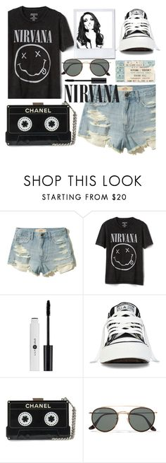 """Nirvana"" by droomie ❤ liked on Polyvore featuring Hollister Co., Whiteley, Gap, Converse, Ray-Ban, contest, black and nirvana"