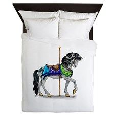 The Carousel Horse Queen Duvet for