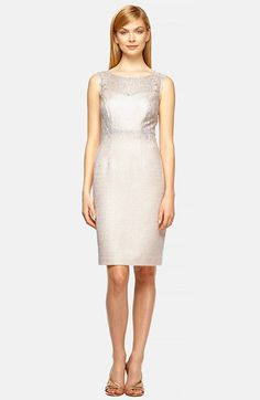 Kay Unger Illusion Lace & Tweed Sheath Dress available at #Nordstrom
