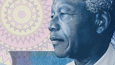 The South African National Reserve Bank has revealed its new South African banknotes. Each banknote features an image of Nelson Mandela on the front. Nelson Mandela, Spirograph, Funky Design, Old Coins, New South, Former President, Pattern Fashion, Cool Designs, Design Inspiration