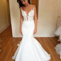 Mermaid Wedding Dress On Sale - Off Backless Mermaid Wedding Dresses, Used Wedding Dresses, Wedding Dress Sizes, Backless Wedding, Prom Dresses, Bridal Gowns, Wedding Gowns, Wedding Silhouette, Mermaid Silhouette