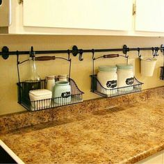 Small Kitchen Organization Hacks - How to Organize a Small Kitchen with No Pantry #smallkitchenorganization #nopantry #nopantrysolutions #kitchenorganization #gettingorganized #organizationideasforthehome #storagesolutions #diystorageideas