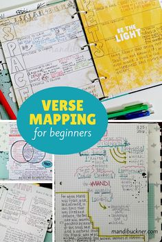 Verse-Mapping-for-beginners Bible verses Bible Study Notebook, Bible Study Tips, Bible Study Journal, Scripture Study, Bible Lessons, Prayer Journals, Scripture Journal, Bible Art, Bible Journaling For Beginners