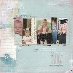 """""""Blink"""" scrapbook page - what an appropriate title and a wonderful page!"""