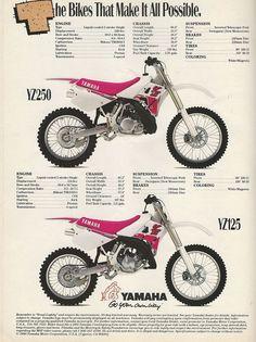 1991 Yamaha YZ125 and YZ250