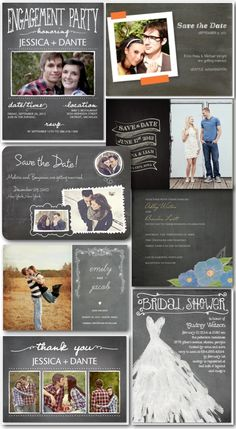Chalkboard Wedding stationary