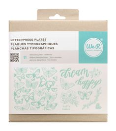 We R Memory Keepers™ Wildflower Letterpress Plates