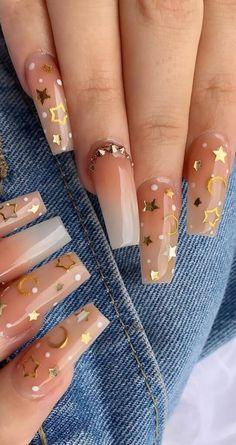new years nails design & new years nails ; new years nails acrylic ; new years nails gel ; new years nails glitter ; new years nails dip powder ; new years nails design ; new years nails short ; new years nails coffin Aycrlic Nails, New Year's Nails, Swag Nails, Moon Nails, Glitter Nails, Best Nails, Sparkly Nails, Nail Nail, Summer Acrylic Nails