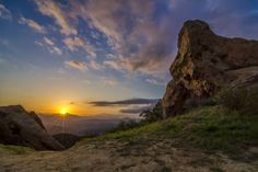 Sunset in Topanga Canyon, California.