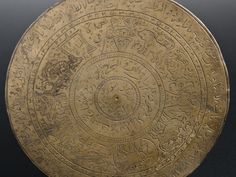 Disc-like brass divination plaque engraved with signs of zodiac and Islamic script Made in: Central Asia Date: 1801-1920 Location: Science Museum, Cosmos & Culture Object number: A658137