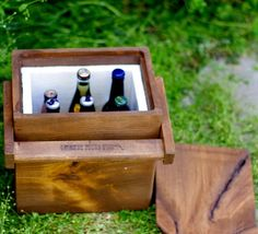 How cool is this wooden cooler?