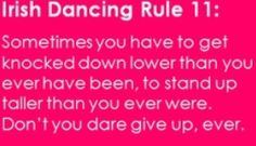 Irish dancing rule