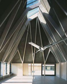 Brockholes Visitor Centre, Preston [2011] | Adam Khan Architects. Photo: Ioana Marinescu --- Timber, Visitor Centre, Wildlife, Wetlands Nature Reserve, Photograph, Interior, Vaulted Roof