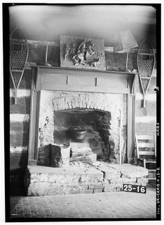 Well used fireplace in Log Cabin, Carbondale, Jackson County, IL -Library of Congress