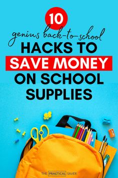 Are you ready to save money on back to school supplies? What items can you actually save money on? Here are 10 awesome tips to save money on school supplies and clothes/shoes for your kids that even work before you even start shopping. Learn easy ways to score amazing deals and save money on school supplies using these simple hacks to spend less. Learn what to look for, where to look, and how to win incredible prices for your shopping list. | The Practical Saver #savemoney #spendless #school No Spend Challenge, Money Saving Challenge, Money Saving Tips, Money Tips, Save Money On Groceries, Ways To Save Money, Back To School Supplies, Budgeting Money, Financial Tips