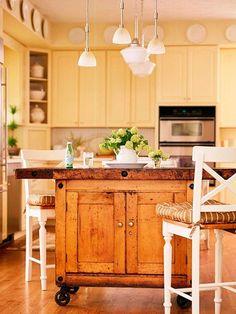 DIY kitchen island.