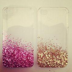 glitter phone cases <3