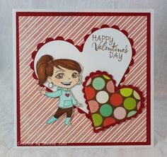 handmade Valentine's Day card. Image from #yumiandfumi. Sentiment from @Vanessa Jacky-Davis Stamps. Patterned paper from #mymindseye. heart dies from @Spellbinders