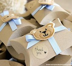 Rustic Teddy Bear Favour Box