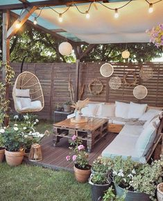 Backyard Patio Designs, Backyard Landscaping, Patio Ideas, Outdoor Spa, Outdoor Decor, Outdoor Retreat, Balkon Design, Bohemian Decor, Gazebo