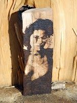 Aida Yespica hand burnt into Maple Wood by Simon Cook www.pegasusandcrow.com