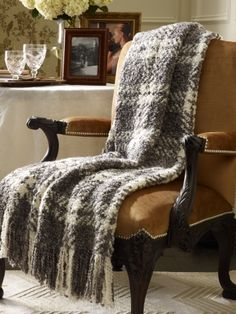 Ralph Lauren Bouclé Plaid Throw Blanket  Price: $115.00   Style #12425195