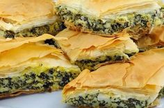 Греческий пирог со шпинатом и сыром